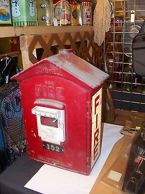 Antique Red Fire Alarm Box by Gamewell Co.