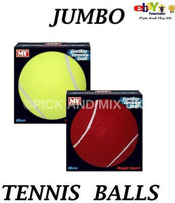 18Cm Tennis Ball  Giant Large Jumbo Novelty Fun  Tennis Balls