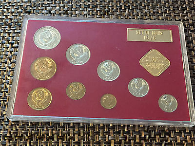 Russia USSR CCCP Coin Set 1976 UNC *Sealed* Kopek / Ruble / Cold War Cool!