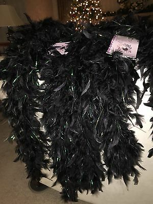"Lot of 3 - 60"" long Chandelle Feather Boad with Tinsels, NEW! Party Festive"