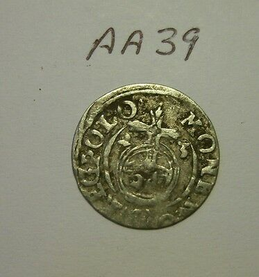 silver medieval coin. (aa39)