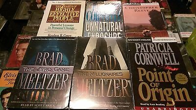Lot of 6 audio books on cassette Brian Meltzer. Patricia Cornwell. Christopher R