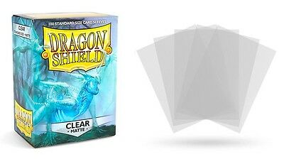 Dragon Shield Mat Clear 100 protective Sleeves Cases Standard Card holder