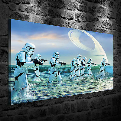 Oil Painting HD Print Wall Decor On Canvas Star Wars Stormtrooper 24x36 Unframed