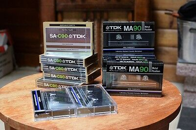 TDK MA 90 metal position   8 unopened and  2 used, and 5 unopened  SA-C90 TDK