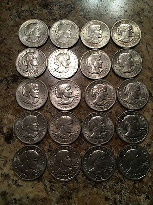 Lot Of 20 Susan B Anthony Dollar Coins 1979