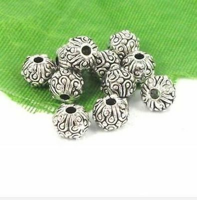 30 pieces Tibetan Silver Alloy Bead Caps 8mm A0436