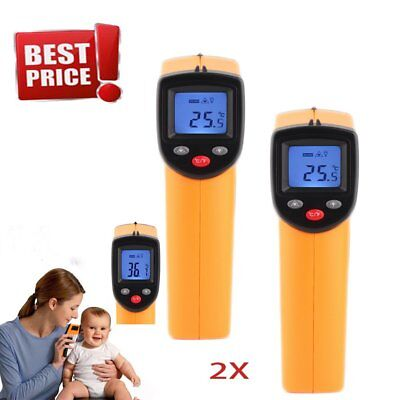2X Hot Non-Contact LCD IR Laser Infrared Digital Temperature Thermometer Gun VP