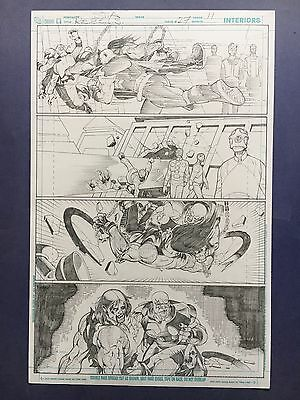 Rebels Vol. 2 #27 pg.11 June '11 Original Art by St. Aubin, pencils only