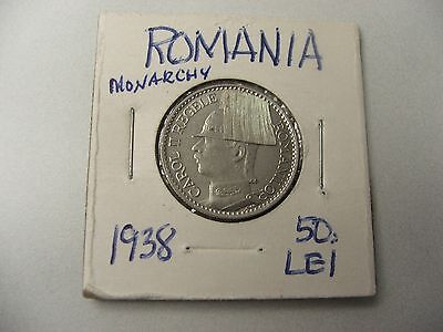 Kingdom ROMANIA 1938 50 LEI  Ruler:CAROL II 1930-1940-Note:16,1731Melted 2 years