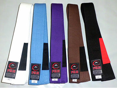 Fuji BJJ Jiu Jitsu Belts - White Blue, Purple, Brown, Black