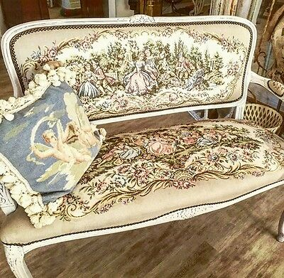 A Beautiful Vintage French Style embroidered sattee