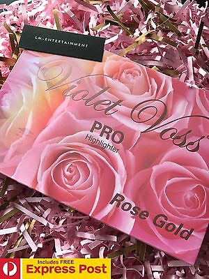 Violet Voss Rose Gold Pro Highlighter Palette - 6 Shades - Large Palette - New