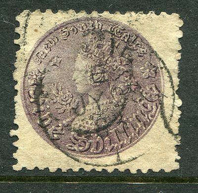 1883 NSW 5 shilling coin stamp fine used