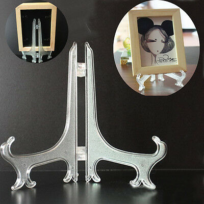 """3""""/5""""/7""""/9"""" Plastic Display Stand Easel Plate Holder For Picture Photo Frame UK"""