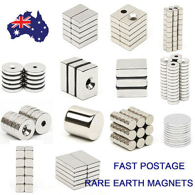 Super Strong Block Ring Round Cuboid Rare Earth NdFeB Neodymium N50 Magnets