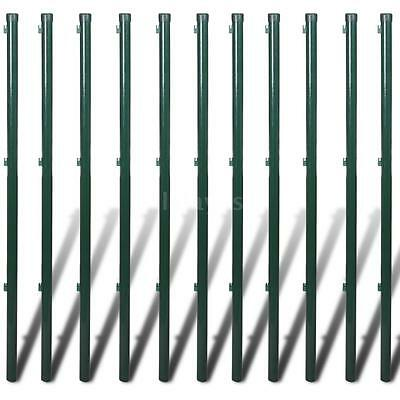Chain Fence 0,8 x 25 m Green with Posts & All Hardware Z0N9