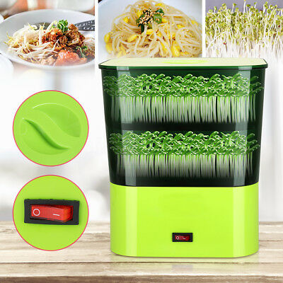 220V 50HZ 15W Multi-functional Automatic Double Layer Home Bean Sprouts Machine