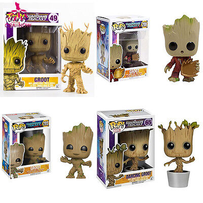 Funko POP! Marvel Guardians of the Galaxy Groot 202 208 Vinyl Figure Toys Gifts