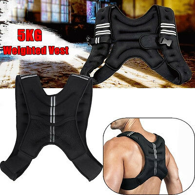 Sports 5KG Adjustable Workout Weight Weighted Vest Exercise Gym Train Running