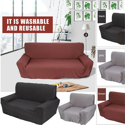 1/2/3 Seater Sofa Cover Stretch Couch Lounge Protector Washable Recliner  Covers