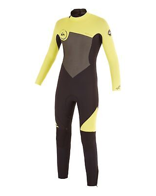 NEW QUIKSILVER™  Boys 2-16 Syncro 4/3MM GBS Back Zip Steamer Wetsuit 2015 Boys T