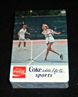 Cool 1975 Coca Cola Tennis Players Mint Sealed Deck of Playing Cards