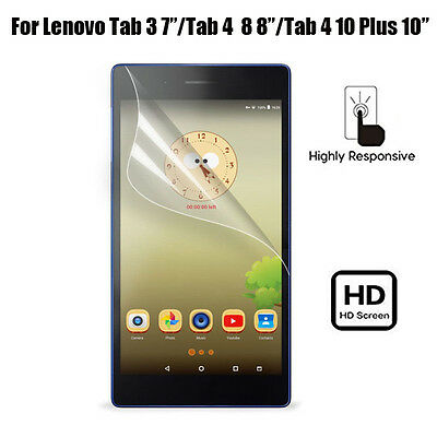 "Ultra Clear HD Screen Protector For Lenovo Tab3 7""/Tab 4 8 Plus/ 4 10 Plus Lot"