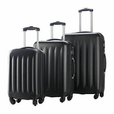 New 3 Pcs Luggage Travel Set Bag ABS Trolley Suitcase