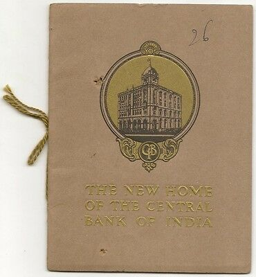 India Central Bank 1921 illustrated booklet