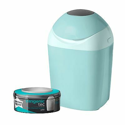 Tommee Tippee Sangenic Tec Nappy Disposal Tub (Green) NEW *FAST DELIVERY*