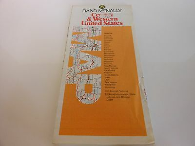 Rand McNally - Central and Western United States Map - Possibly 1987