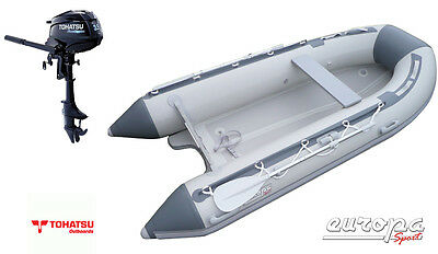 NEW Europa Sport 3.2m Inflatable Boat V Air Floor RIB + Tohatsu 3.5hp outboard