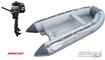 NEW Europa Sport 3.2m Inflatable Boat V Air Floor RIB + Mercury 6hp outboard