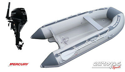 NEW Europa Sport 3.2m Inflatable Boat V Air Floor RIB + Mercury 9.9hp outboard