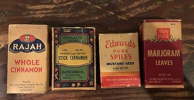 Lot of vintage spice 4 boxes