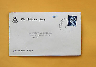 "Salvation Army NSW Postmark ""BINGARA"" CDS on commercial cover advertising"