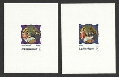 Niger #678-82/C109 1968 Paintings Deluxe imperf proof sheets (6)