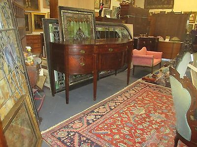 "NEW YORK FEDERAL INLAID MAHOGANY SIDEBOARD ANTIQUE CIRCA 1800 SIZE: 82"" x 33"""