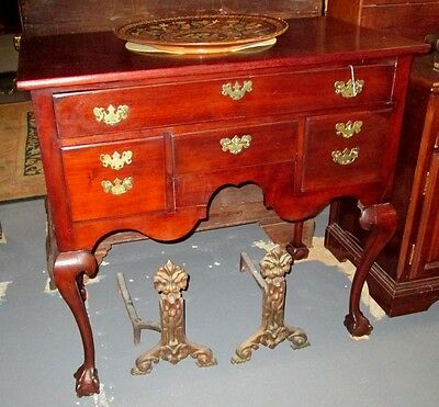 ANTIQUE CHIPPENDALE HIGHBOY 18th C. BASE ON BALL & CLAW FEET_ FINE NY ESTATE