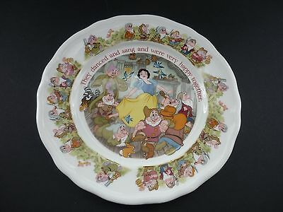 Aynsley Disney Snow White & Seven Dwarfs 8 Inch Plate Boxed In Mint Condition