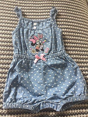 Baby Girls Minnie Mouse Play Suit - 3-6 Months