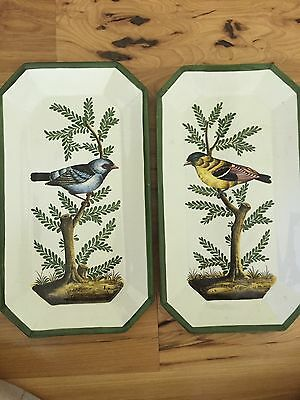 Two Vintage Costa Italy Large Bird Trays