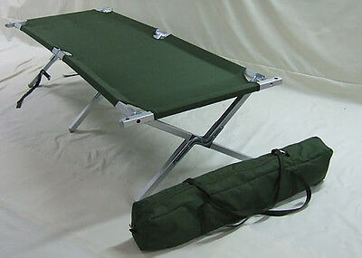 BRAND NEW British Army Folding Aluminium Frame Cot Camp Bed NEWEST ISSUE Camping