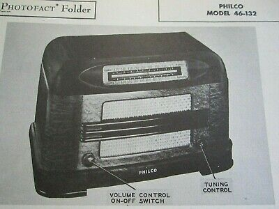 Philco 46-132 Radio Photofact
