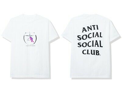 ebaed6237366 DS Anti Social Social Club ASSC White Blocked Logo Blue Tee size XL Bape  Supreme