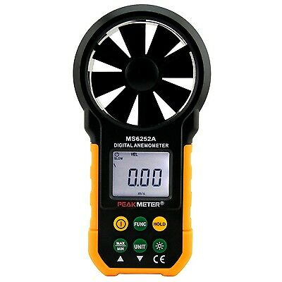 PEAKMETER MS6252A Digital Anemometer Handheld Wind Speed Meter Gauge Air Volu...