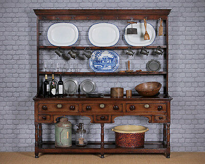 Antique Early 19th.c. Oak Welsh Dresser c.1820