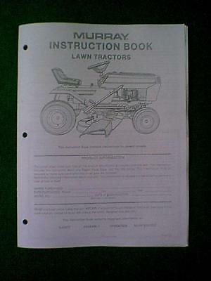 """Murray 12 Hp 38"""" Tractor / Riding Mower Model 38608X12A Owner's Manual"""