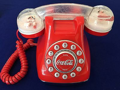 Coca Cola Snow Dome Telephone